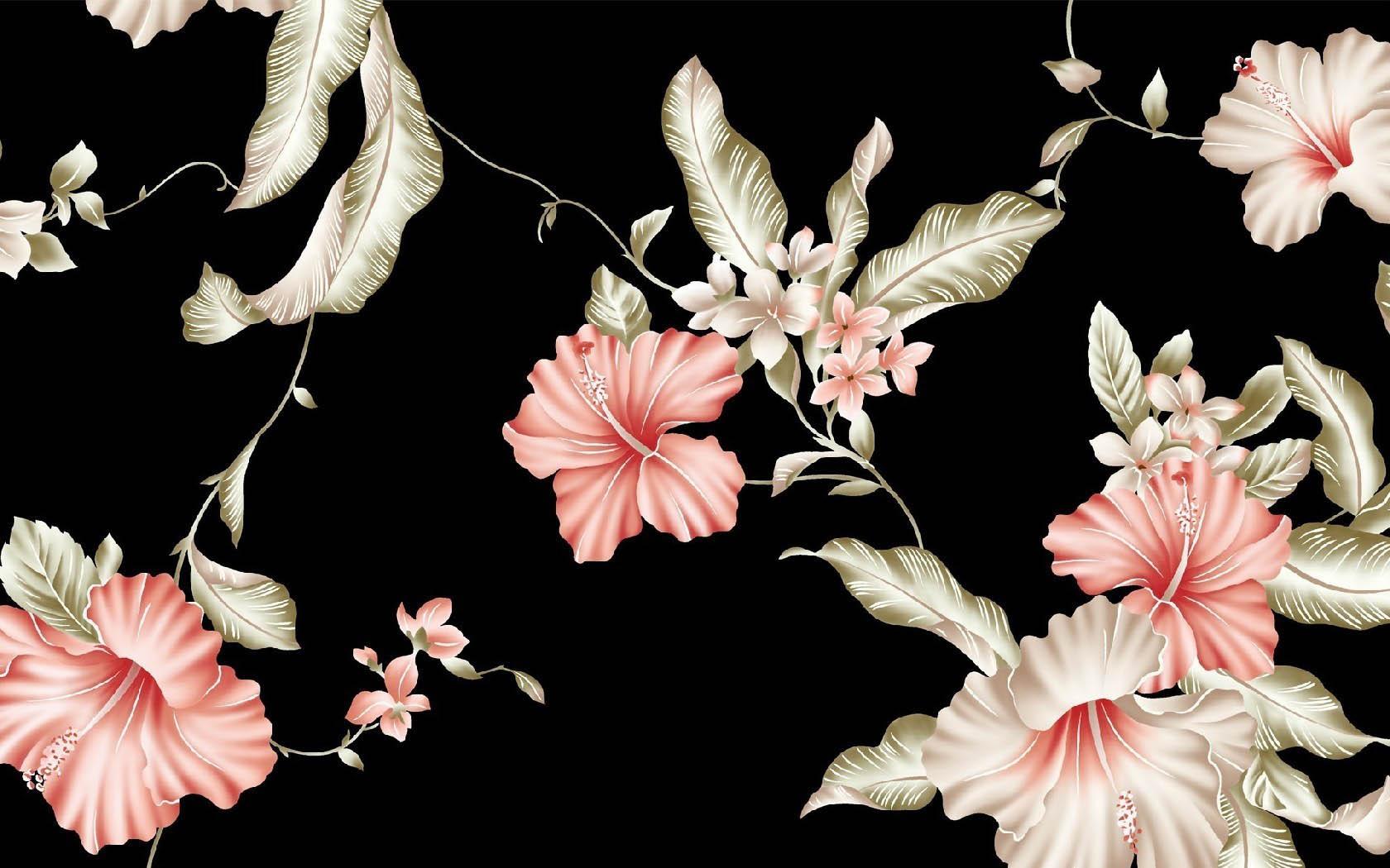 Картинка 3d цветы на черном фоне