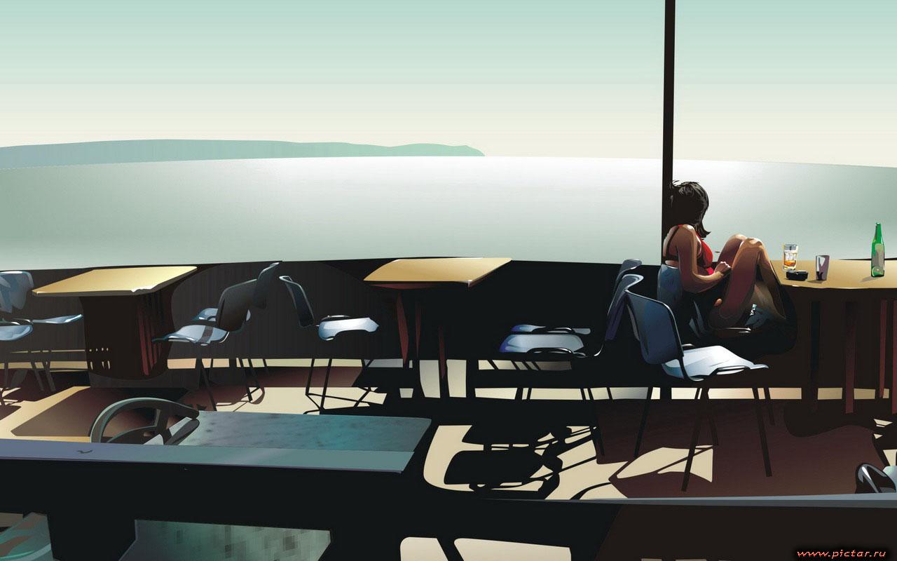 Картинка кафе в японском стиле - 57
