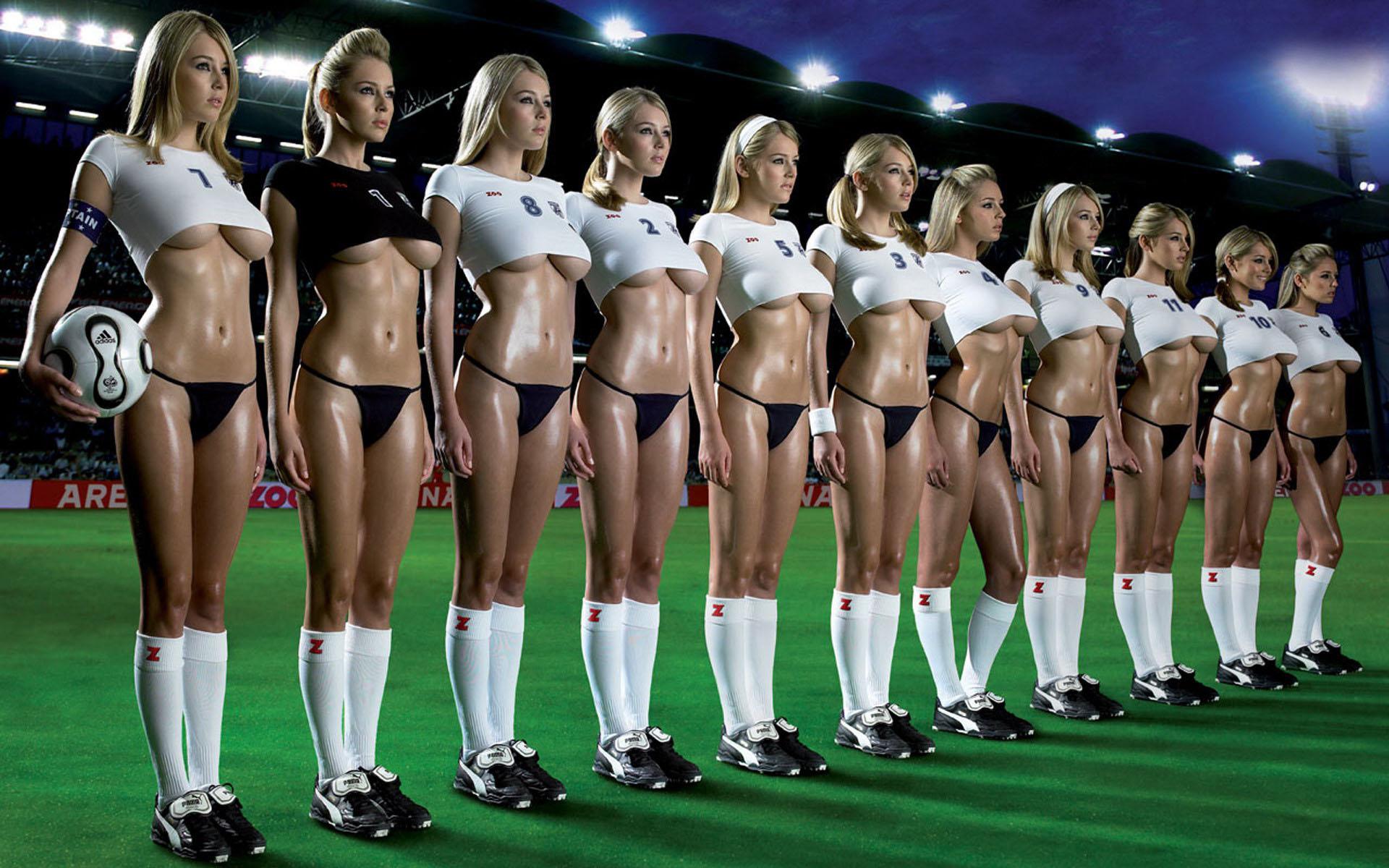 сексуальная футбольная команда